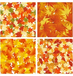 Autumn seamless pattern set vector