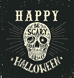 Hand drawn happy halloween lettering vector