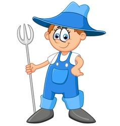 Cartoon farmer vector image