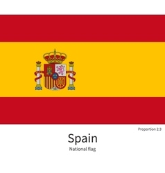National flag of spain with correct proportions vector