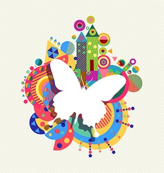 Butterfly icon concept spring color shape vector