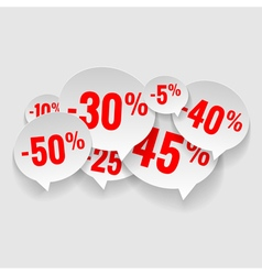 Discount price tags vector