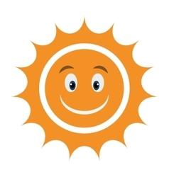Yellow avatar face sun graphic vector