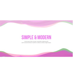 Abstract header website pink green wave vector