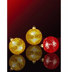 bauble reflection vector image vector image