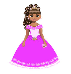 beautiful princess with diadem vector image