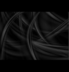 Black abstract smooth blurred waves background vector