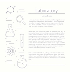 Chemicals and science vector image vector image