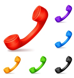 Colored handsets vector image vector image
