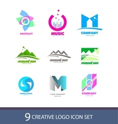 Creative logo icon set vector image vector image