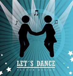 Dance design over blue background vector image