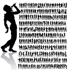 dancing and singing people big set vector image vector image