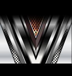 dark abstract metallic backgrounds vector image vector image