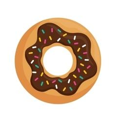Delicious donut dessert vector