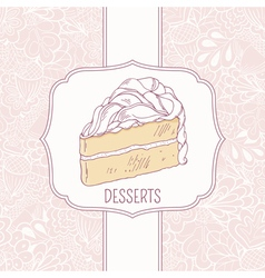 VectorStock  Dessert Menu Template