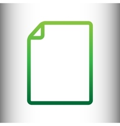Document sign green gradient icon vector