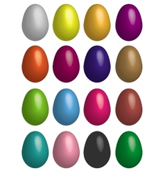 Eggs multicoloured vector