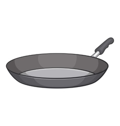 Frying pan icon cartoon style vector