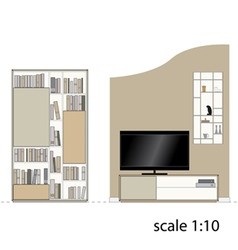 Furniture Design living room Interior furniture vector image