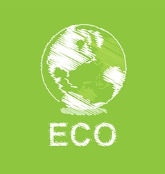 green eco and globe design vector image vector image