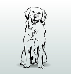 Ink sketch of dog vector image vector image