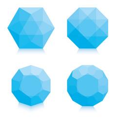 light blue polygons vector image