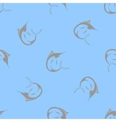 Marlin fish seamless pattern vector