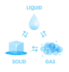 matter in different states gas solid liquid vector image