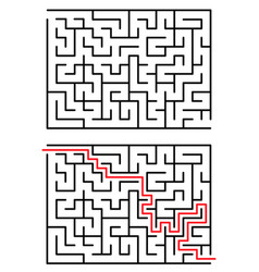 maze labyrinth with entry and exit vector image
