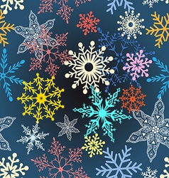 multi-colored snowflakes vector image