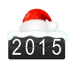 New Year Counter With Santa Hat Cap vector image vector image