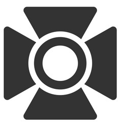 Searchlight flat icon vector
