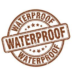 Waterproof brown grunge stamp vector