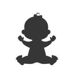 Girl baby cute little childhood icon vector