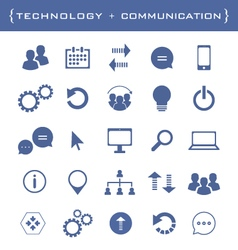 Collection of business and technology icons vector