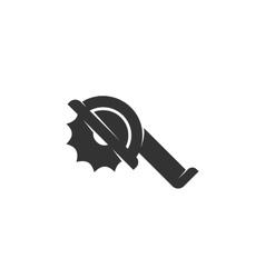 Saw icon logo on white background vector
