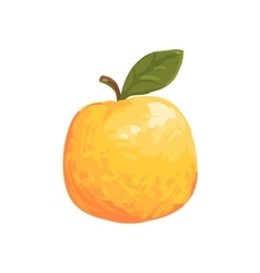 Orange apple funky hand drawn fresh fruit cartoon vector