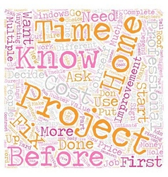 Home improvement projects text background vector