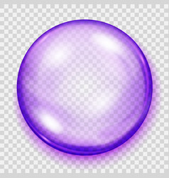 transparent purple sphere with shadow vector image