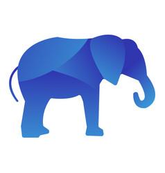 wild elephant animal jungle logo silhouette of vector image