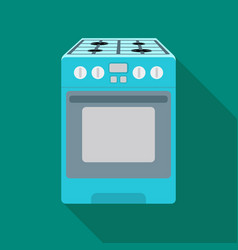 Kitchen stove icon in flat style isolated on white vector