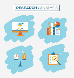 Research and analysis icon vector