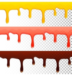 Honey jam chocolate seamless transparent drips vector