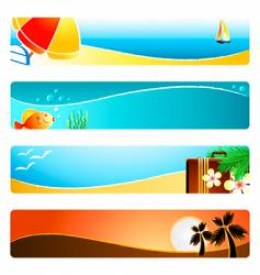 Beach time banner backgrounds vector