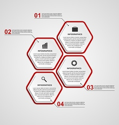 Abstract hexagon infographics template vector