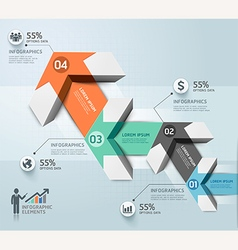 Modern arrow infographics template vector