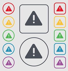 Exclamation mark attention caution icon sign vector