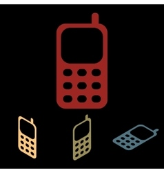 Cell phone icon set vector