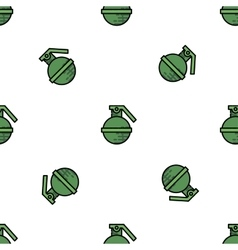 Bomb flat icon pattern vector image