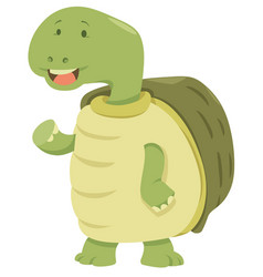 cartoon turtle animal character vector image vector image